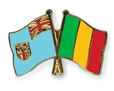 Crossed Flag Pins Fiji-Mali