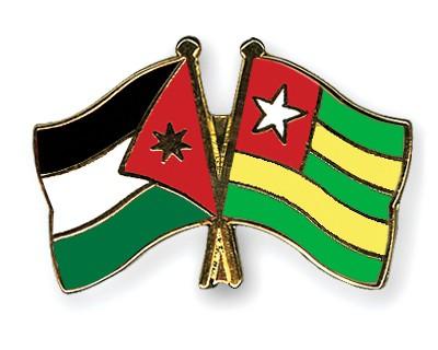 Crossed Flag Pins Jordan-Togo