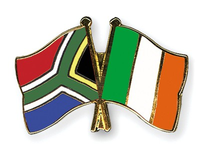 Crossed Flag Pins South-Africa-Ireland