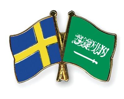 Special Offer Crossed Flag Pins Sweden-Saudi-Arabia