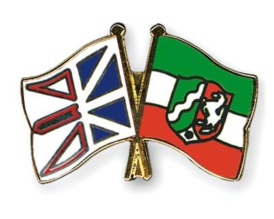 Crossed Flag Pins Newfoundland-and-Labrador-North-Rhine-Westphalia