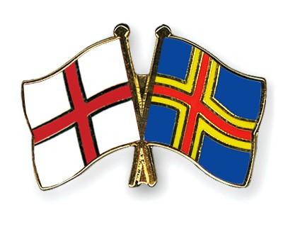 Crossed Flag Pins England-Aland