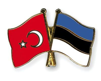 Crossed Flag Pins Turkey-Estonia