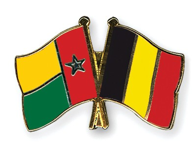Crossed Flag Pins Guinea-Bissau-Belgium
