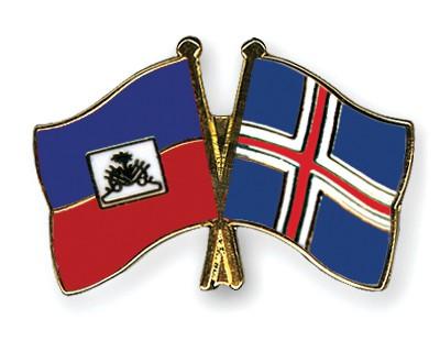 Crossed Flag Pins Haiti-Iceland
