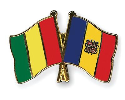 Crossed Flag Pins Guinea-Andorra