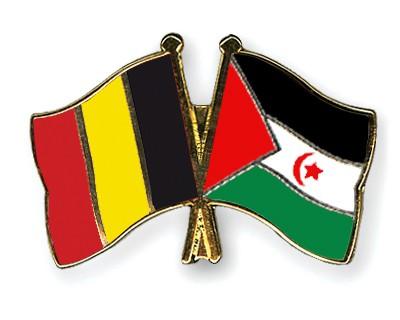 Crossed Flag Pins Belgium-Western-Sahara