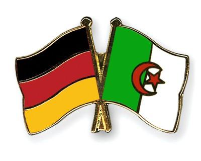 Crossed Flag Pins Germany-Algeria