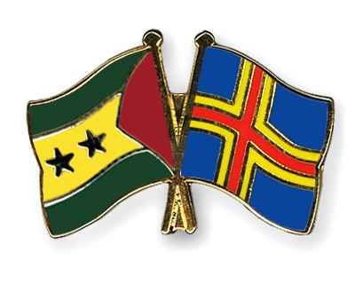 Crossed Flag Pins Sao-Tome-and-Principe-Aland