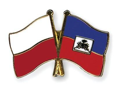 Crossed Flag Pins Poland-Haiti