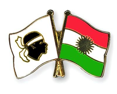 Crossed Flag Pins Corsica-Kurdistan