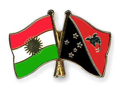 Crossed Flag Pins Kurdistan-Papua-New-Guinea