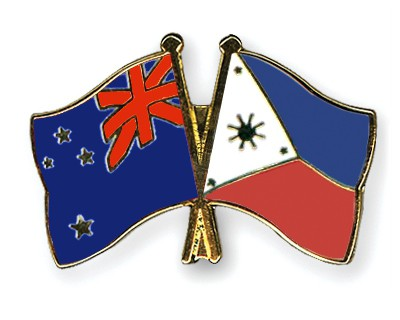 Crossed Flag Pins New-Zealand-Philippines