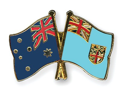Special Offer Crossed Flag Pins Australia-Fiji