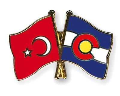 Crossed Flag Pins Turkey-Colorado