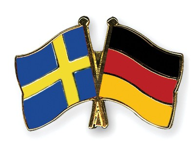 Special Offer Crossed Flag Pins Sweden-Germany