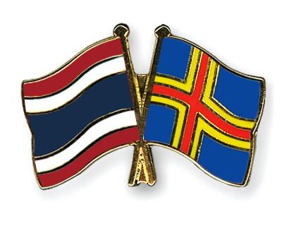 Crossed Flag Pins Thailand-Aland