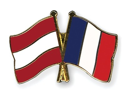 Special Offer Crossed Flag Pins Austria-France
