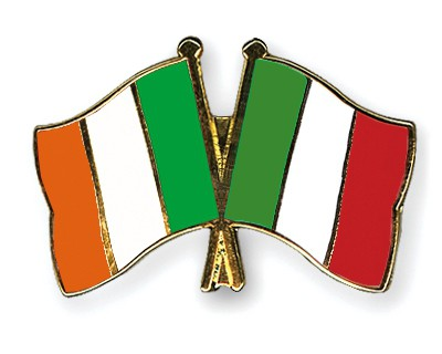 Special Offer Crossed Flag Pins Ireland-Italy