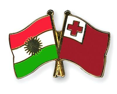 Crossed Flag Pins Kurdistan-Tonga