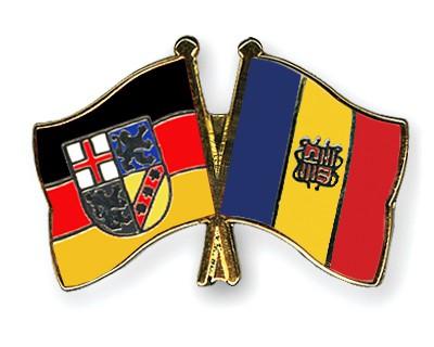 Crossed Flag Pins Saarland-Andorra