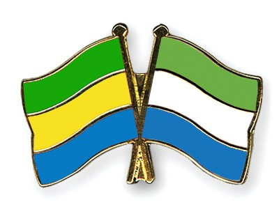 Crossed Flag Pins Gabon-Sierra-Leone
