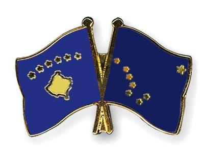 Crossed Flag Pins Kosovo-Alaska