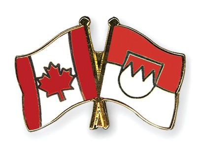 Crossed Flag Pins Canada-Franconia