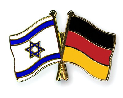 Special Offer Crossed Flag Pins Israel-Germany