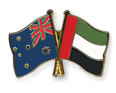 Special Offer Crossed Flag Pins Australia-United-Arab-Emirates