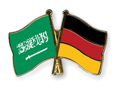 Crossed Flag Pins Saudi-Arabia-Germany
