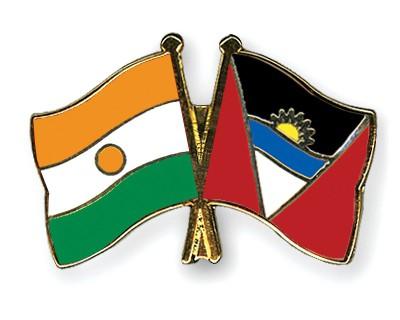 Crossed Flag Pins Niger-Antigua-and-Barbuda