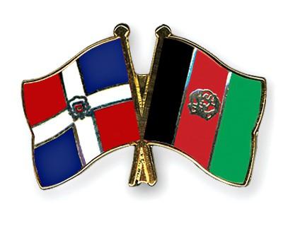 Crossed Flag Pins Dominican-Republic-Afghanistan