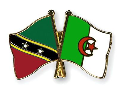Crossed Flag Pins Saint-Kitts-and-Nevis-Algeria