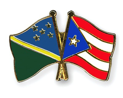 Crossed Flag Pins Solomon-Islands-Puerto-Rico