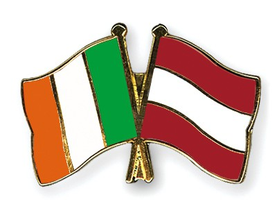 Special Offer Crossed Flag Pins Ireland-Austria