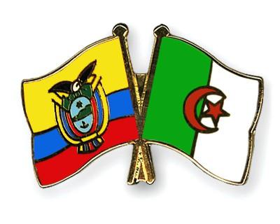 Crossed Flag Pins Ecuador-Algeria