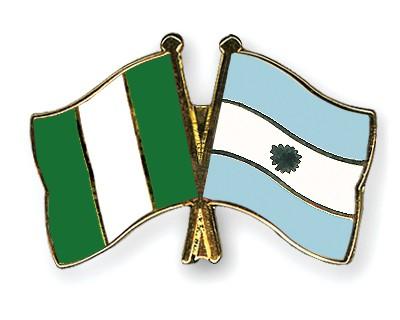 Crossed Flag Pins Nigeria-Argentina