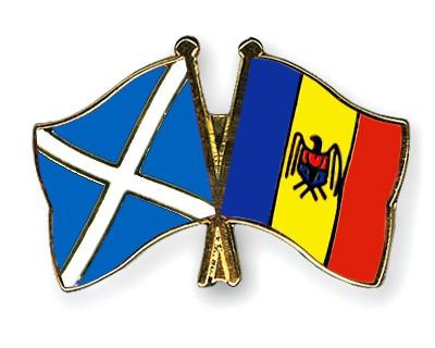 Special Offer Crossed Flag Pins Scotland-Moldova