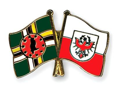 Crossed Flag Pins Dominica-Tyrol