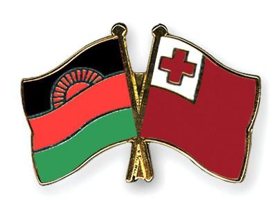 Crossed Flag Pins Malawi-Tonga