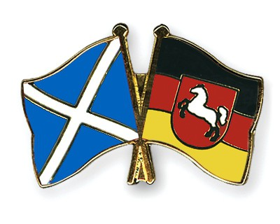 Special Offer Crossed Flag Pins Scotland-Lower-Saxony