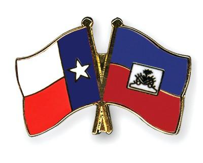 Crossed Flag Pins Texas-Haiti