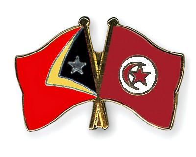 Crossed Flag Pins Timor-Leste-Tunisia