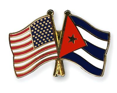 Special Offer Crossed Flag Pins USA-Cuba