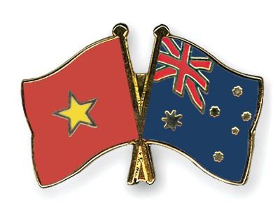Crossed Flag Pins Vietnam-Australia