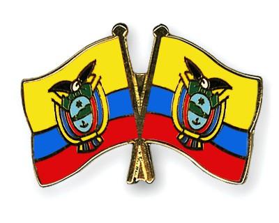 Crossed Flag Pins Ecuador-Ecuador