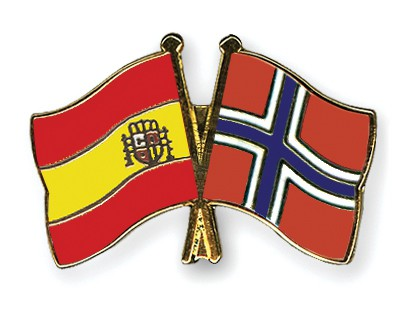 Special Offer Crossed Flag Pins Spain-Norway