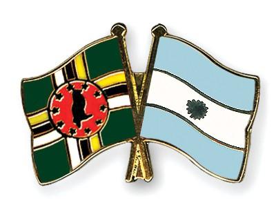 Crossed Flag Pins Dominica-Argentina