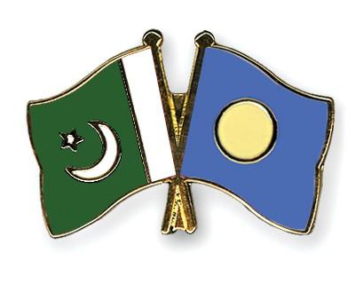Crossed Flag Pins Pakistan-Palau